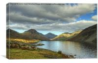 Wastwater In October, Canvas Print
