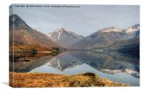 Wastwater in February, Canvas Print