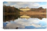 Blea Tarn and The Langdale Pikes, Canvas Print