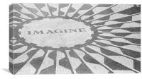Imagine - John Lennon Memorial, Canvas Print