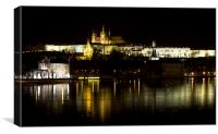 Prague Castle by night, Canvas Print