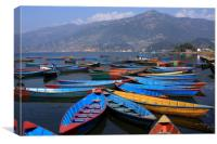 Colourful Rowing Boats , Canvas Print