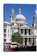 St Paul's Cathedral, London, England , Canvas Print