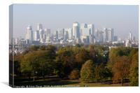 View of the City of London from Greenwich Park  , Canvas Print