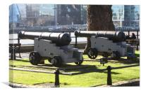 Canon at the Tower Of London  , Canvas Print