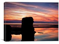 The Sea Ogre at sunset, Canvas Print
