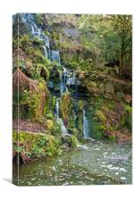 The colourful waterfall, Canvas Print