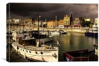 Ramsgate Harbour, Canvas Print