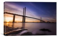 Queen Elizabeth II Bridge, Canvas Print