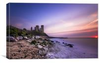 Reculver sunset, Canvas Print