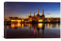 Battersea Twilight, Canvas Print