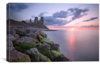 Reculver Towers Sunset, Canvas Print