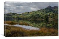 Loch Achray Relection, Canvas Print