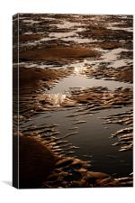 Sand and Water Abstract, Canvas Print