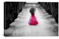 Girl in a Red Dress, Canvas Print