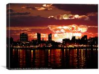 Angry Sunset, Canvas Print