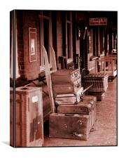 The Station Luggage, Canvas Print