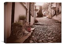 Clovelly Cobbled Street, Canvas Print