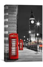 Londons Telephone Boxes, Canvas Print