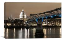 Bridging the Gap to St.Pauls, Canvas Print