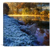 Frosty Tamar, Devon, Canvas Print