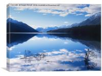South Mavora Lake, Southland, New Zealand, Canvas Print