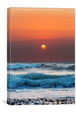 Widemouth Bay Sunset, Bude, Cornwall, Canvas Print
