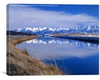 Pukaki Canal, Canterbury, New Zealand, Canvas Print