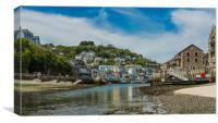 West Looe from the Looe Estuary, Canvas Print