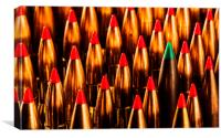 Abstract Pattern of Standing Rifle Bullets, Canvas Print