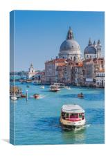 Church of the Salute, the Grand Canal, Venice., Canvas Print