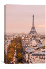 Autumnal Paris and the Eiffel Tower., Canvas Print