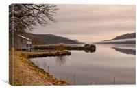 MISTY COLD MORNING(Loch Ness), Canvas Print