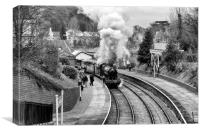 ON THE MOVE (Llangollen Steam), Canvas Print