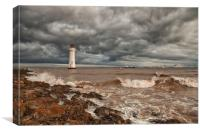 LIGHTHOUSE!!!! ( Perch Rock Before The Storm ), Canvas Print