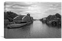 BARTON SWING BRIDGE / AQUEDUCT, Canvas Print