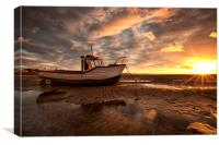 """Meols Sunburst"" (On The Shore), Canvas Print"