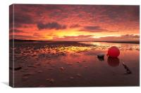 Meols Sunset (On the estuary), Canvas Print