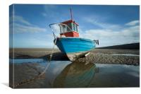 """A LOW P.O.V."" Pt2 (Meols North West England, Canvas Print"