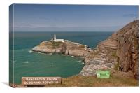 """SOUTH STACK LIGHTHOUSE""(Anglesey), Canvas Print"