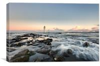 """New Brighton Lighthouse"" (December Sun), Canvas Print"