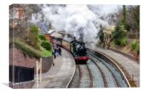 """Llangollen Steam Railway""(North Wales), Canvas Print"