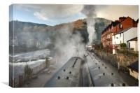 """Llangollen Railway Station(Smoke&Steam), Canvas Print"