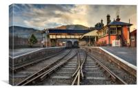 """Llangollen Station""(A Low P.O.V.), Canvas Print"