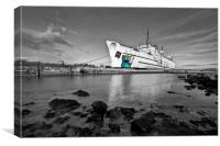 """Duke of Lancaster"" (Mostyn Fun ship), Canvas Print"