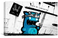 """Graffiti by Kiwie"" Mono Version, Canvas Print"