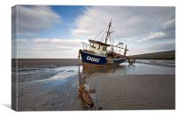 """Sea Fisher Trawler"" (Meols Beach), Canvas Print"