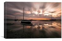 """Light Explosion on Meols Estuary"", Canvas Print"