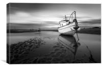 """Boat Named Sue"" (Meols Estuary), Canvas Print"