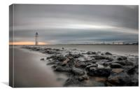 Fort Perch Rock Sunset, Canvas Print
